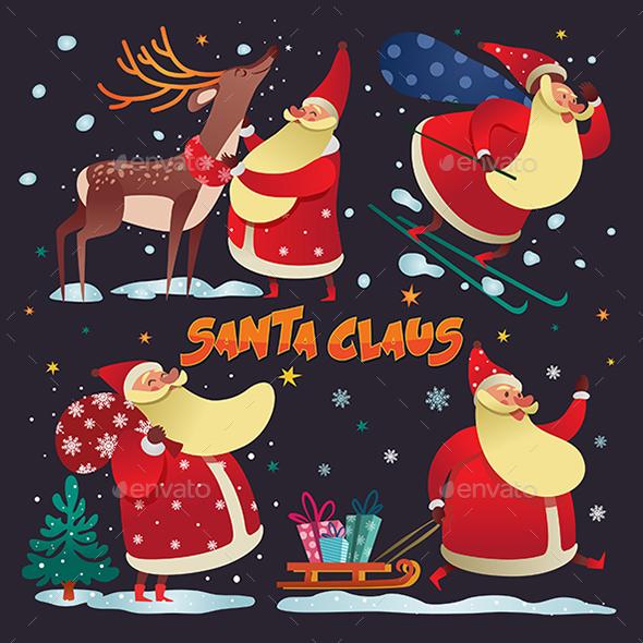 Santa Claus 4 in 1 - Christmas Seasons/Holidays