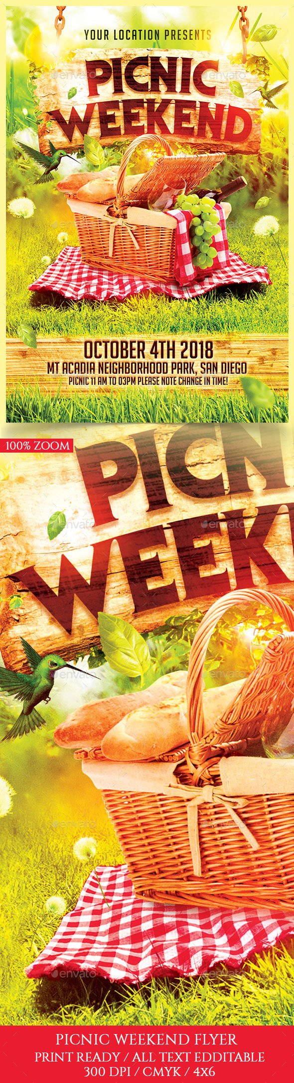 Picnic Weekend Flyer - Holidays Events