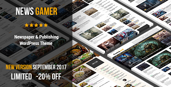 News Gamer - Newspaper / Magazine / Publishing Theme