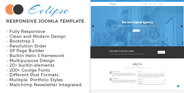 Eclipse - Multipurpose Responsive Joomla Theme