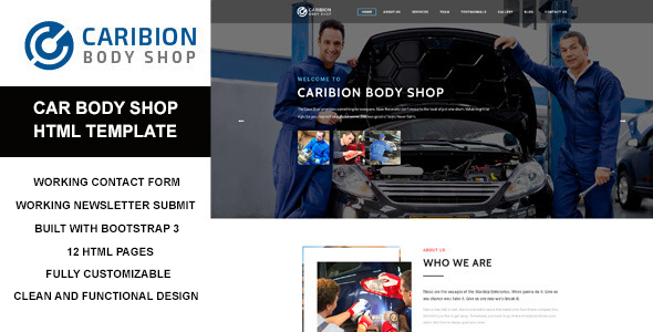 Caribion - HTML Template for Car Mechanic and Repair Shop