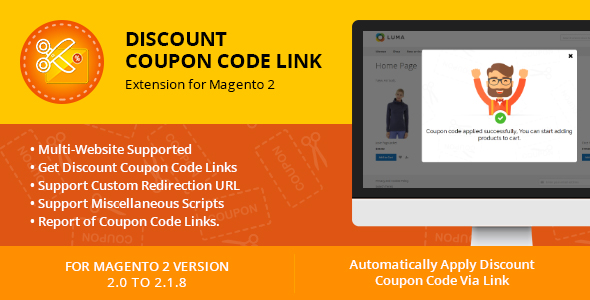 CodeCanyon Discount Coupon Code Link Extension for Magento 2 20617371