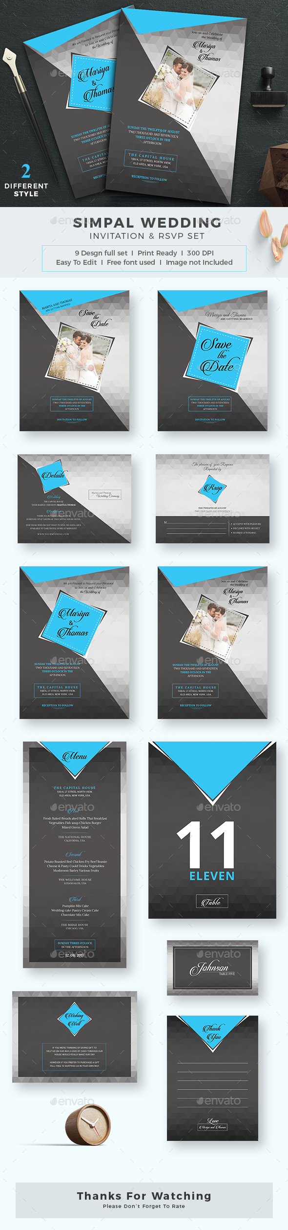 GraphicRiver Wedding Invitation 20617377