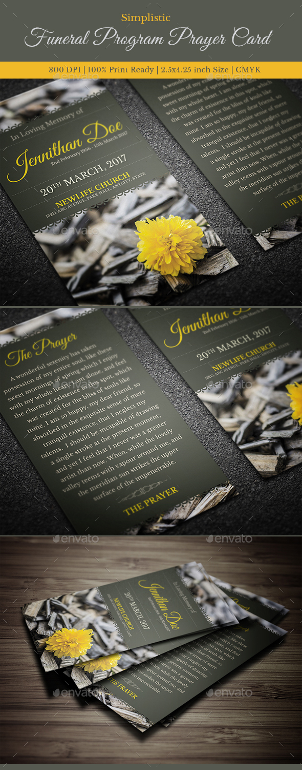 GraphicRiver Funeral Prayer Card Template 8 20617453