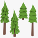 LowPoly Pine Trees2