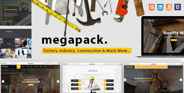 Mega Pack - Factory, Industry & Construction HTML Template