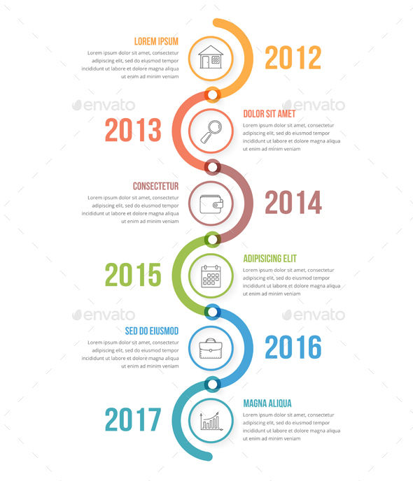 GraphicRiver Vertical Timeline Infographics 20617594