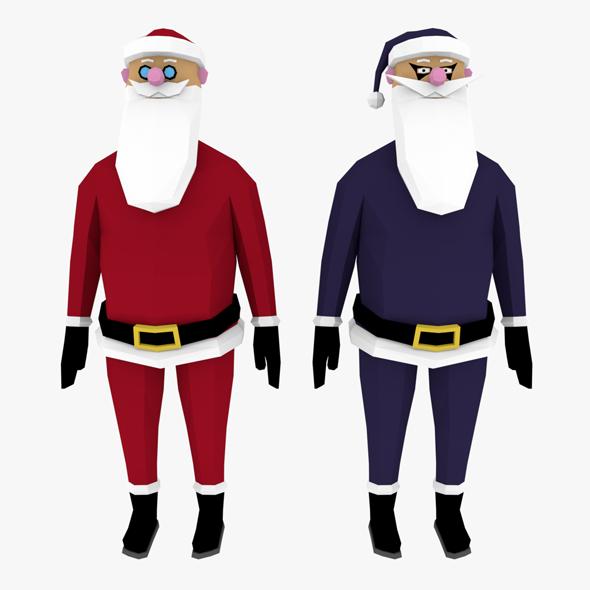 3DOcean LowPoly Santa Claus 3D model 20617671
