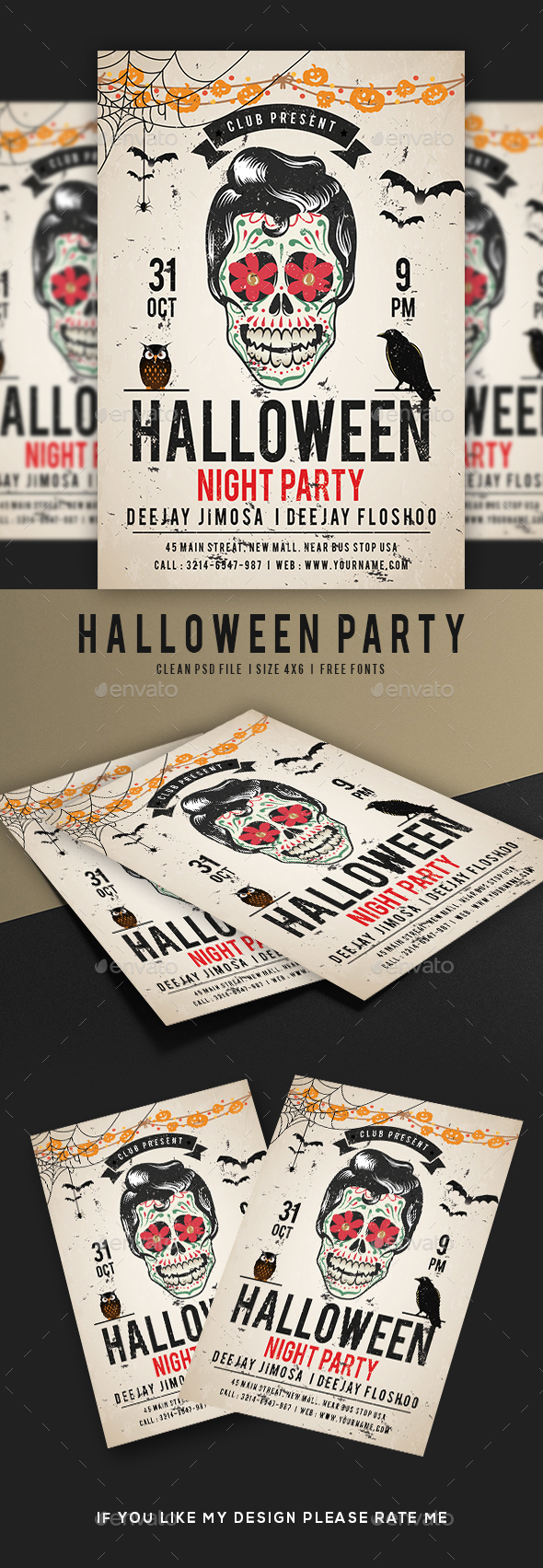 Halloween Night Party Flyer - Holidays Events