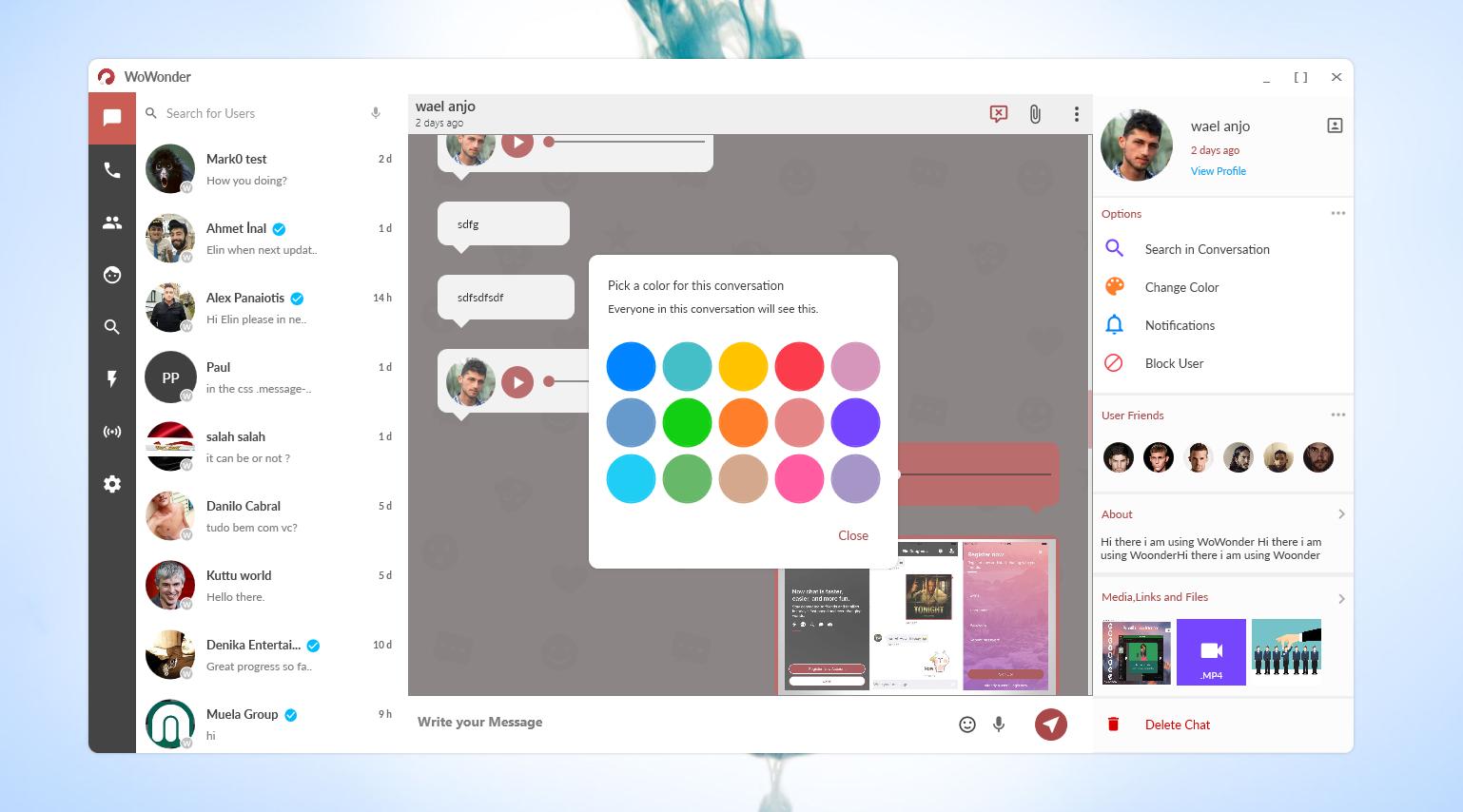 WoWonder Desktop - A Windows Messenger For WoWonder Social Script