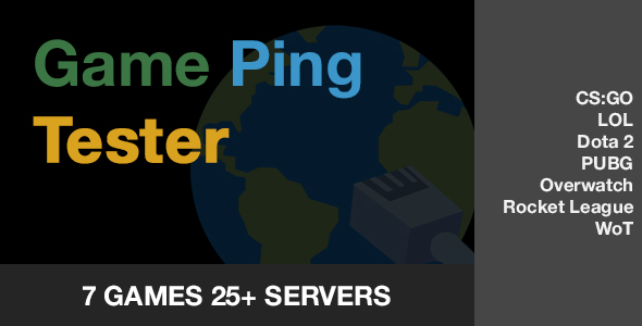 Game Ping Tester - CodeCanyon Item for Sale