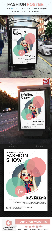 Fashion Show Poster - Signage Print Templates