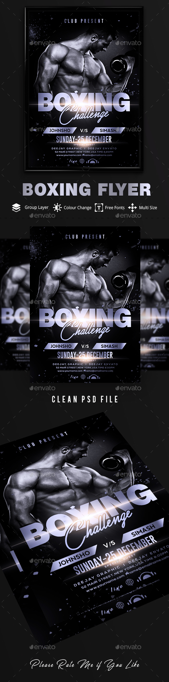 GraphicRiver Boxing Flyer 20618238