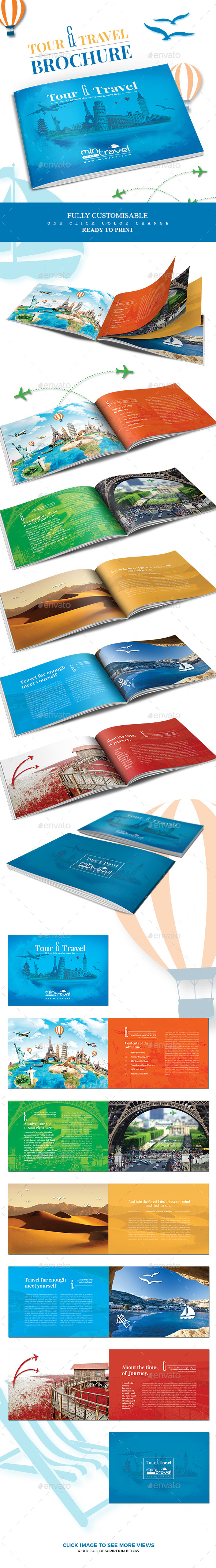 Tour and Tourism Brochure - Informational Brochures