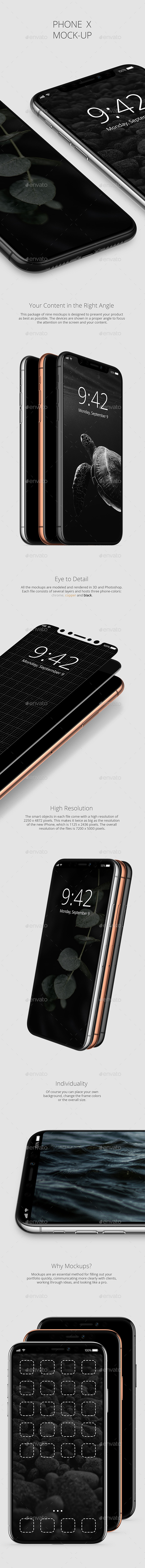 GraphicRiver Phone X Mockup 20618447