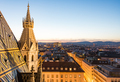 Stephansdom cathedral and aerial view over Vienna at night - PhotoDune Item for Sale