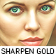 Sharpen Golden Oil Paint