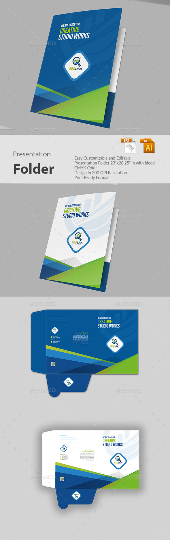 Presentation Folder - Miscellaneous Print Templates