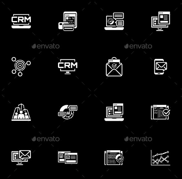 GraphicRiver Set of Business and Marketing Flat Icons 20618715