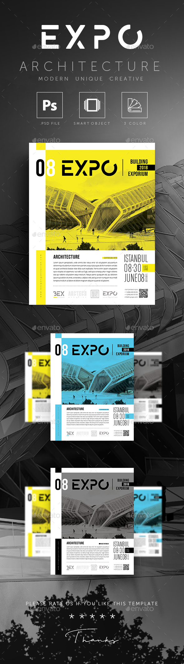 GraphicRiver EXPO Exhibition Architecture Building Fair Poster Flyer 20618835