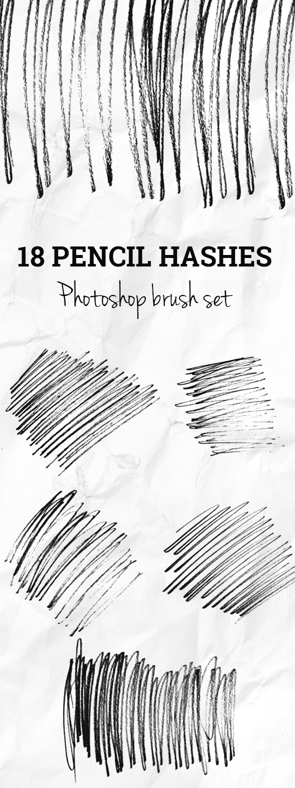 GraphicRiver 18 Pencil Hashes Photoshop Brush Set 20618894