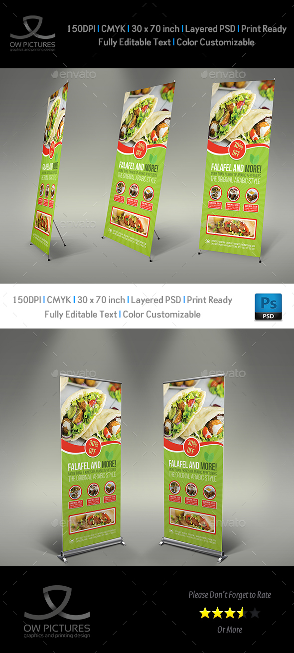 Restaurant  Roll Up Signage Banner Template Vol.11 - Signage Print Templates