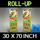 Restaurant  Roll Up Signage Banner Template Vol.11 - GraphicRiver Item for Sale
