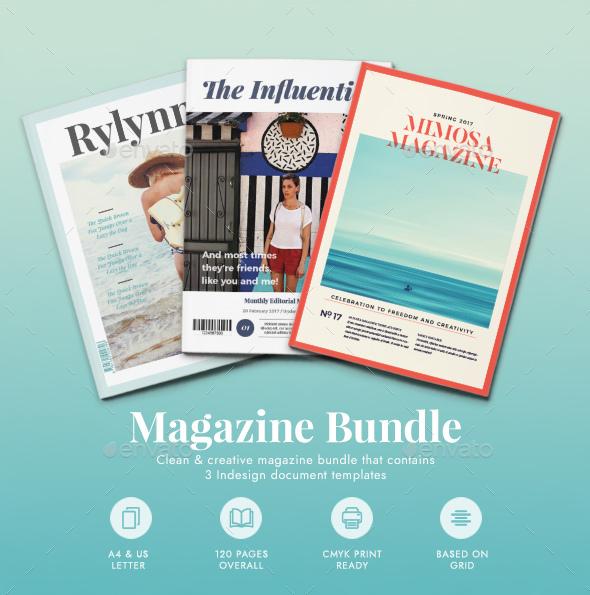 Magazine Bundle - Magazines Print Templates