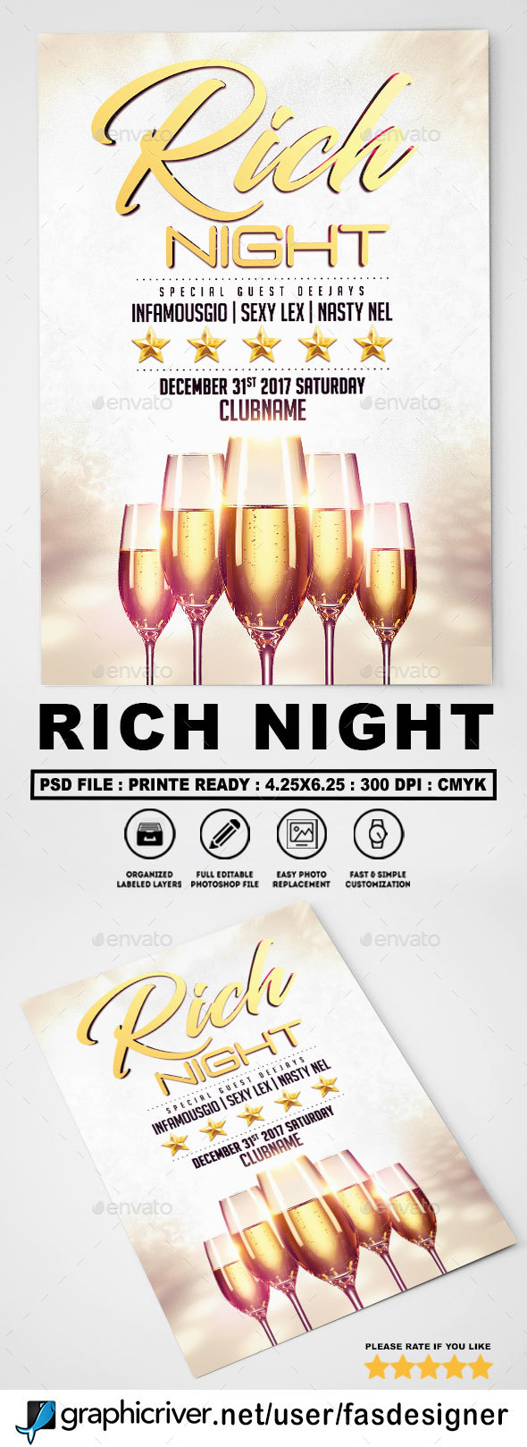 GraphicRiver Rich Night Flyer 20619253