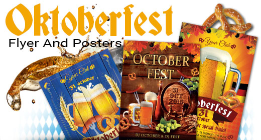 October Fest Festival Party Flyer And Poster