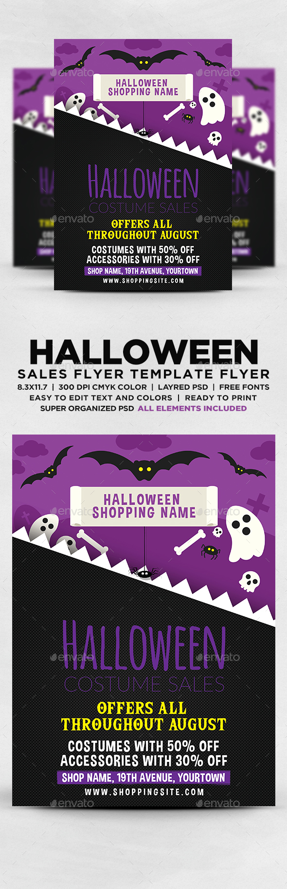 Halloween Costume Sales Flyer