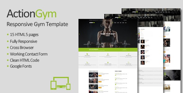 Action Gym - Responsive Gym & Fitness HTML Template
