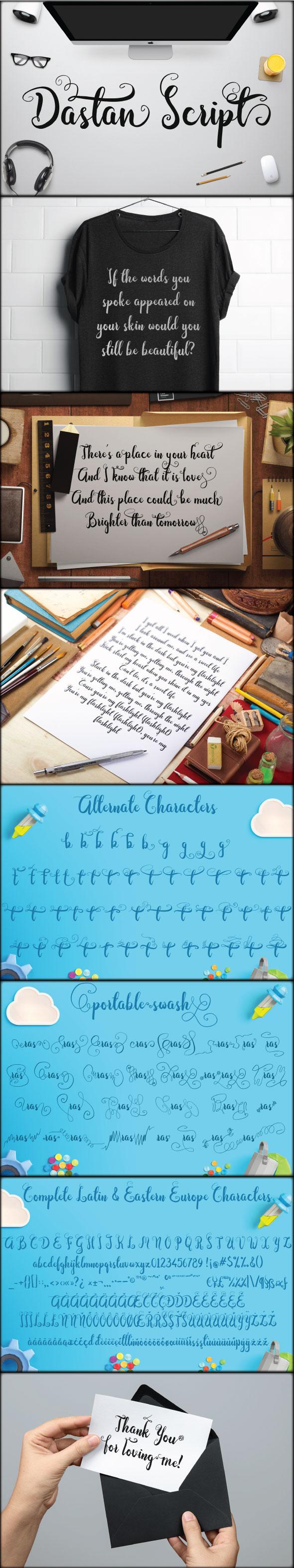 Dastan Script - Cursive Script