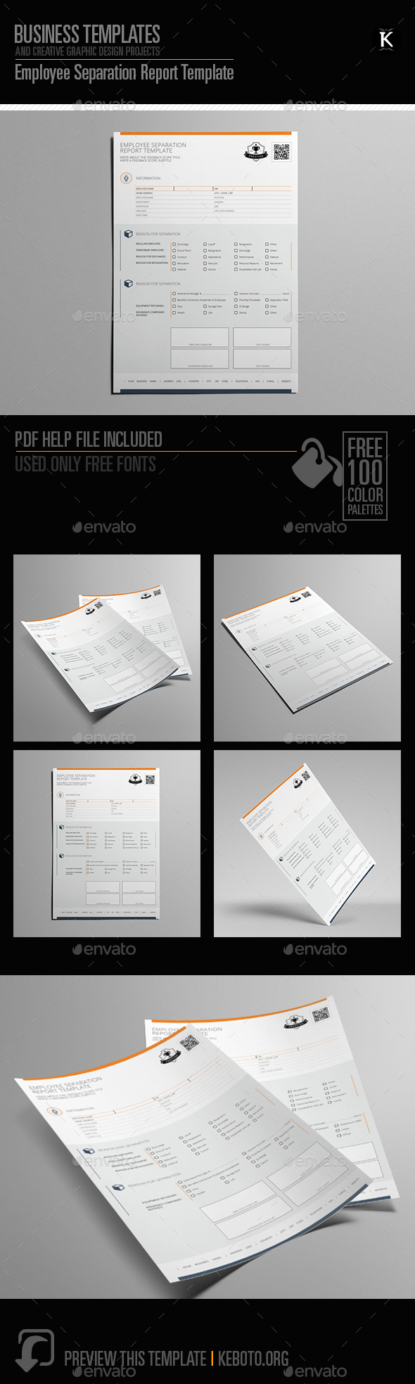 Employee Separation Report Template - Miscellaneous Print Templates