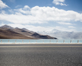 road with holy lake in tibet - PhotoDune Item for Sale