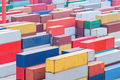 container cargo terminal closeup - PhotoDune Item for Sale