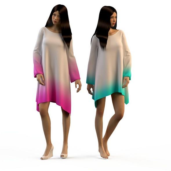 Women in dresses 2 - 3DOcean Item for Sale