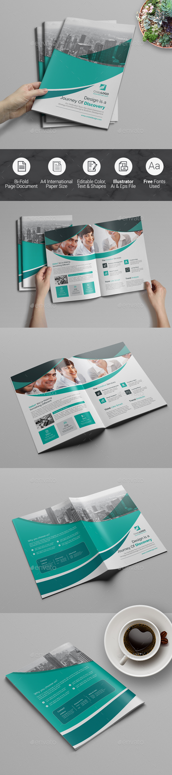 Bi fold Multipurpose Brochure - Corporate Brochures