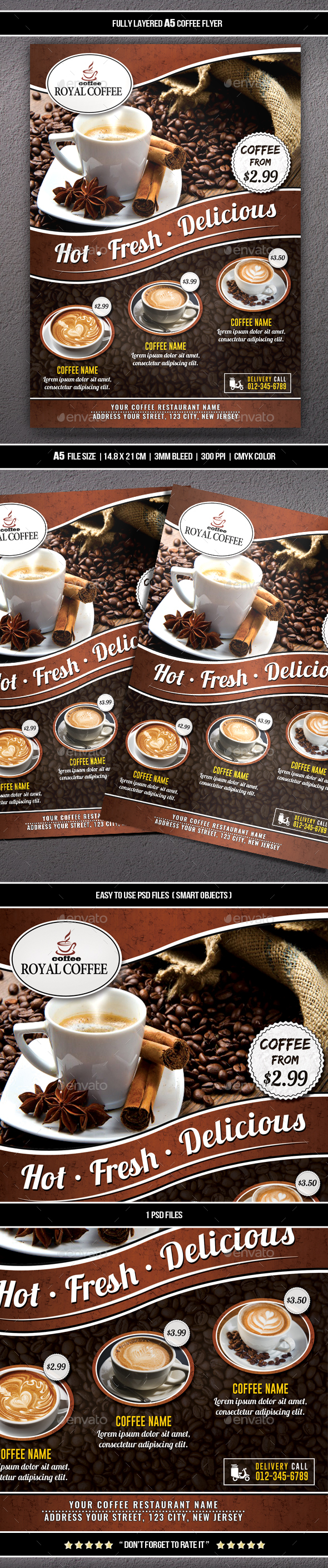 GraphicRiver Coffee Flyer A5 20619810