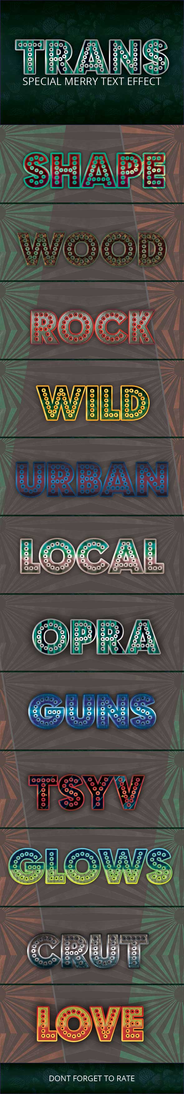 GraphicRiver Trans Merry Special Text Effect 20619822