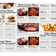 BBQ Restaurant Tri-fold Menu