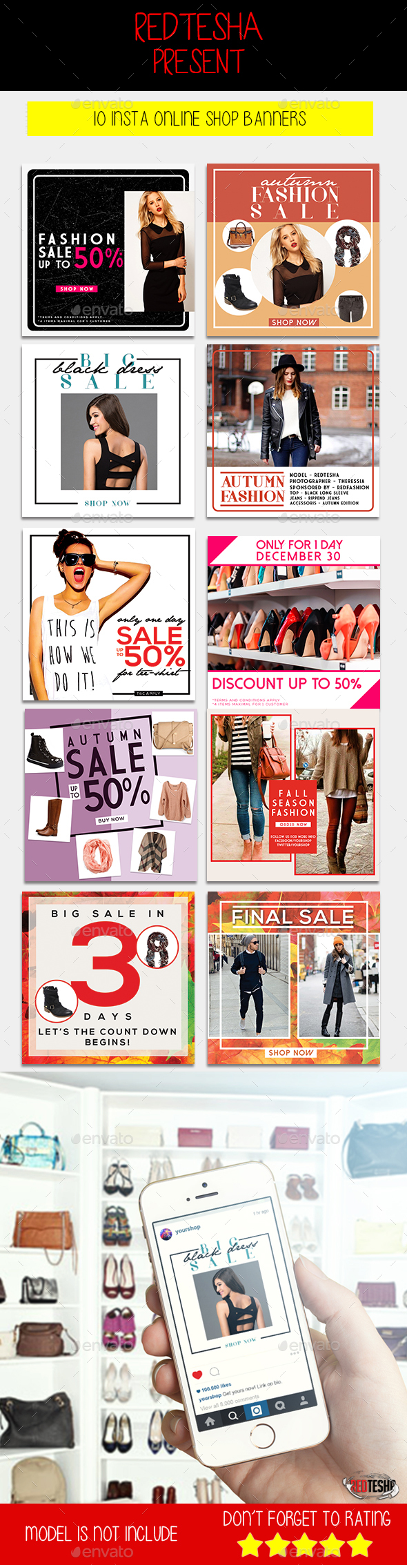 GraphicRiver Instagram Fashion Banner #9 20619999