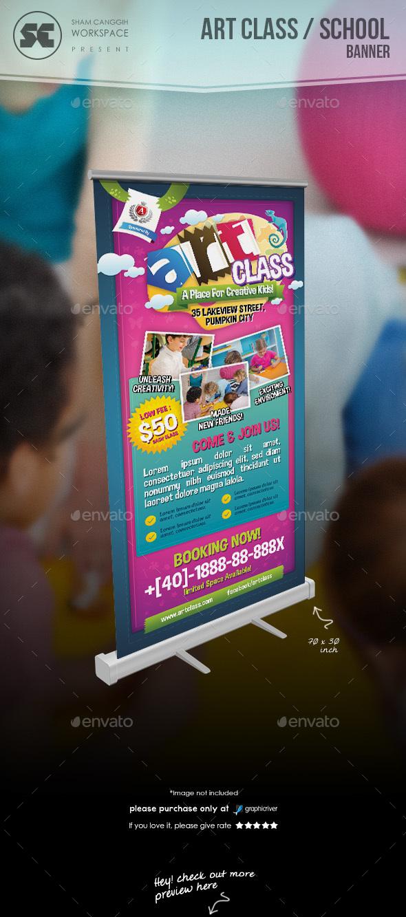 Art class / School Banner - Signage Print Templates