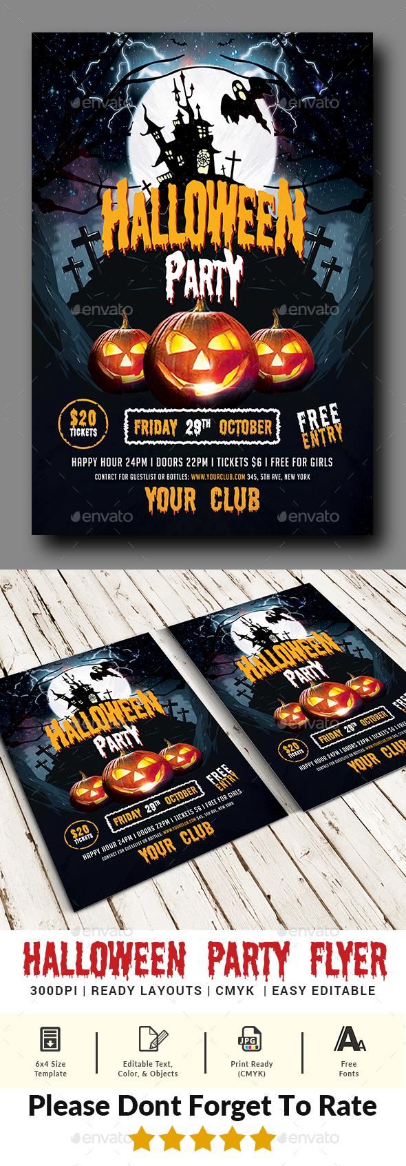 Halloween Party Flyer Templates - Events Flyers