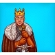 Man in Costume of King of the North Pop Art Vector
