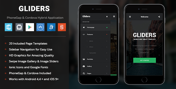 Gliders | PhoneGap & Cordova Mobile App - CodeCanyon Item for Sale