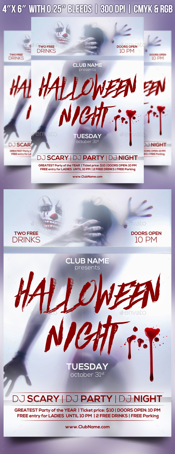 Halloween Night Flyer Template - Clubs & Parties Events