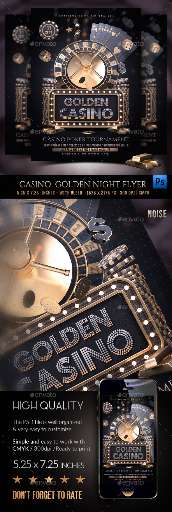 Casino Golden Night Template - Clubs & Parties Events