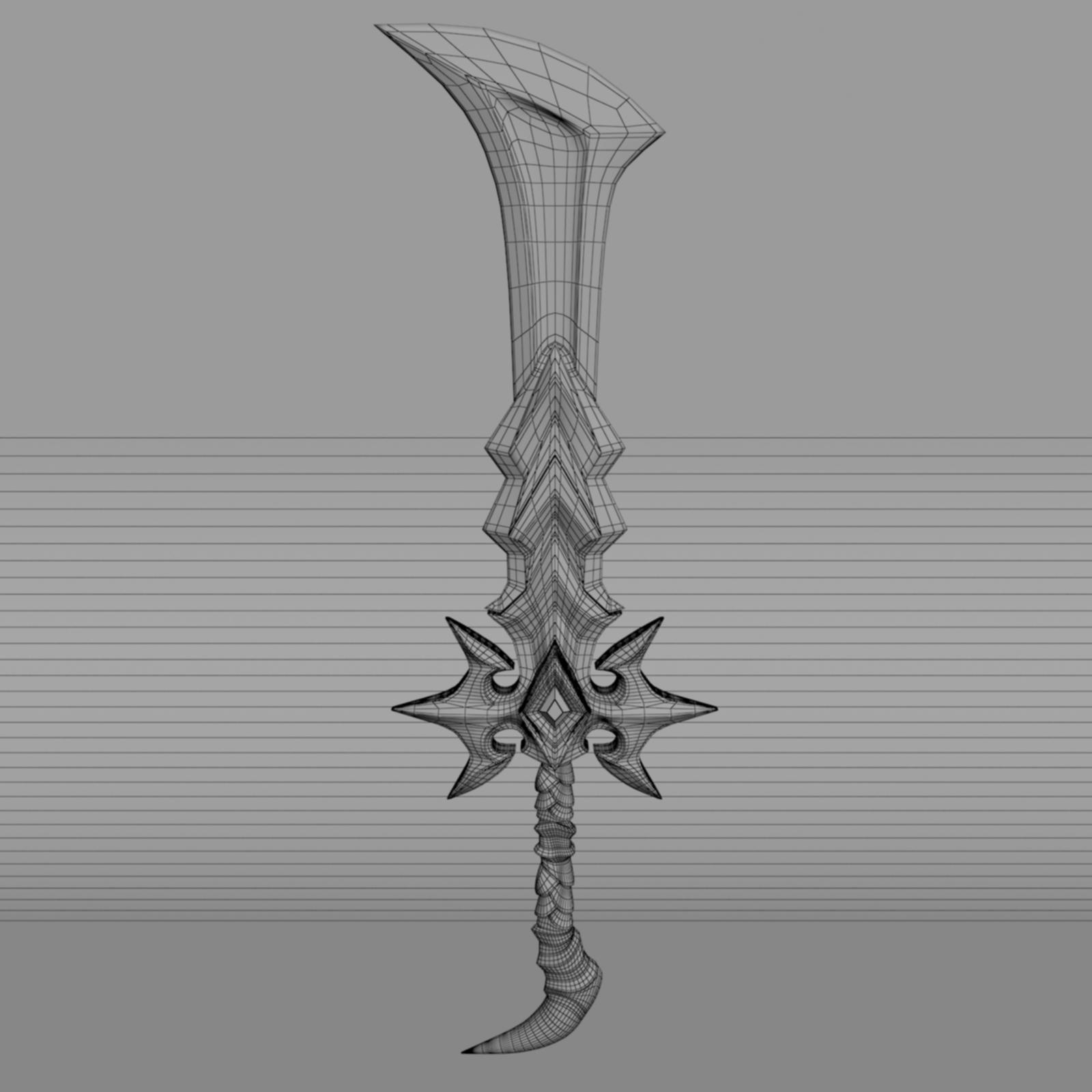 Fantasy Sword 5 By Nicu Tepes 3docean