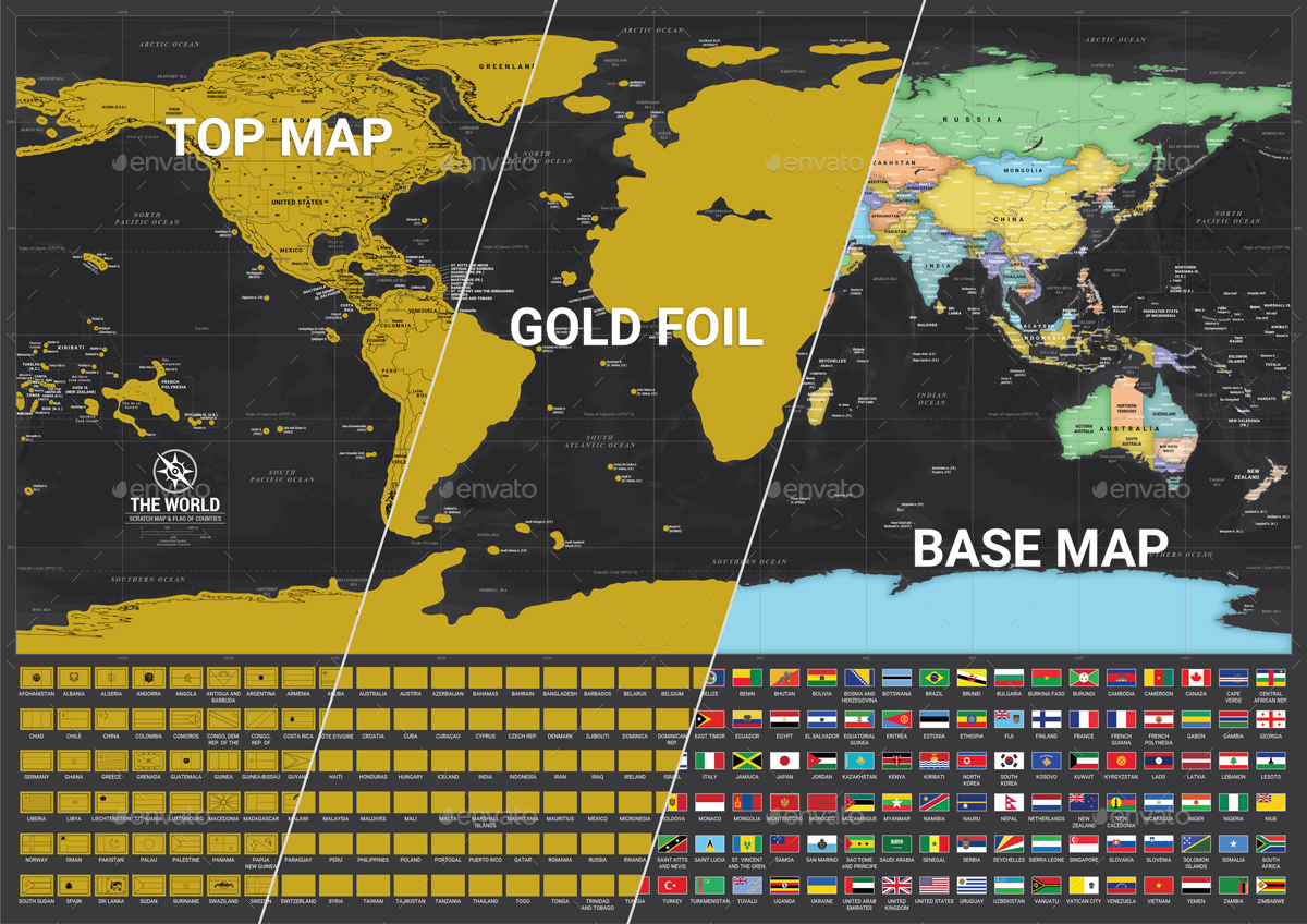 scratch off world map by adriandragne  graphicriver -  preview image setseasiacloseup preview imagesetflags preview image setaworld map preview imagesetaworld map